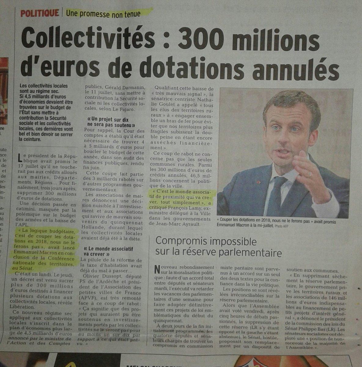 Les communes et les associations peuvent crever, on s&#39;en fout on a les #JO2024  #EnMarcheArrière <br>http://pic.twitter.com/AHLWpSmaDr