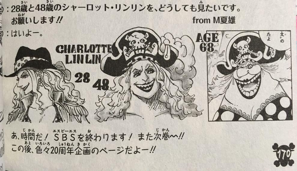 """One Piece Wiki on Twitter: """"Apariencia de Big Mom con 28, 48 y 68 ..."""