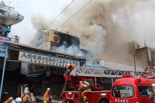 【速報】築地場外市場で火災 sankei.com/affairs/news/1… pic.twitter.com/21lFTYZVU8