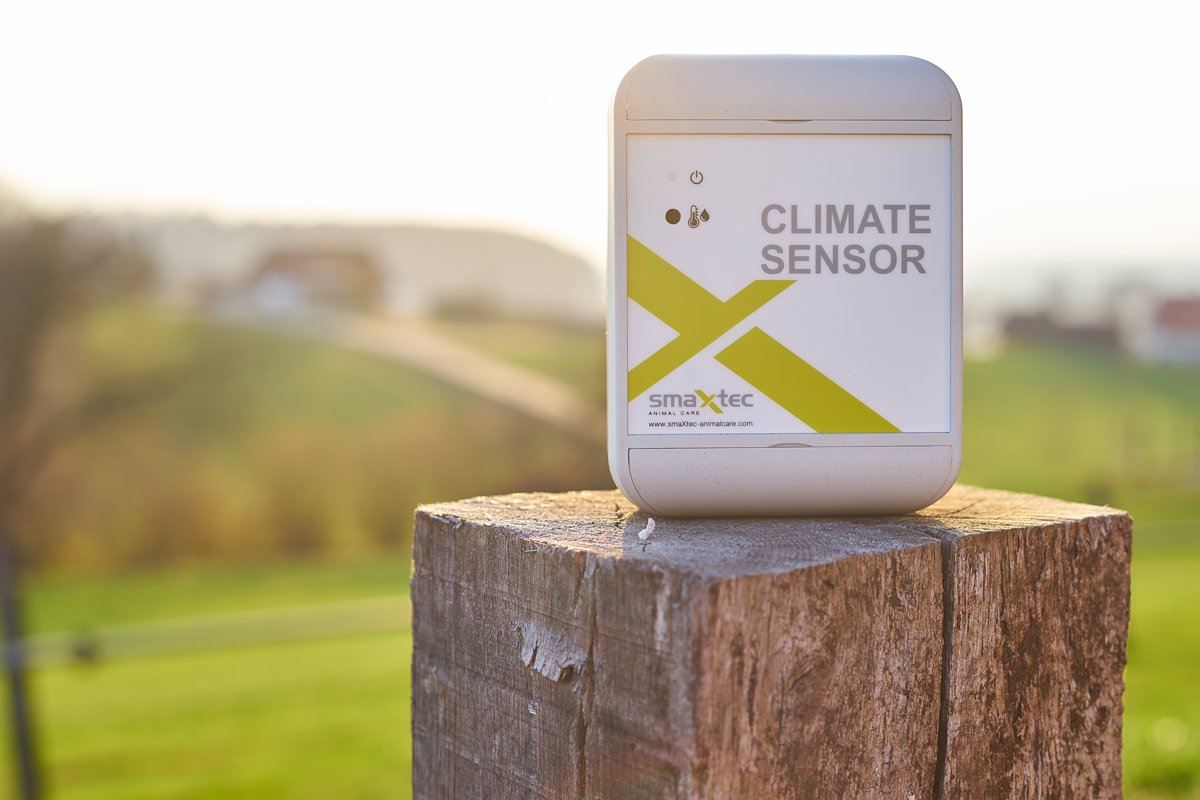 It's hot outside! Our Climate Sensor helps you to monitor the temperature and take measures on time to alleviate heat stress of your cows!