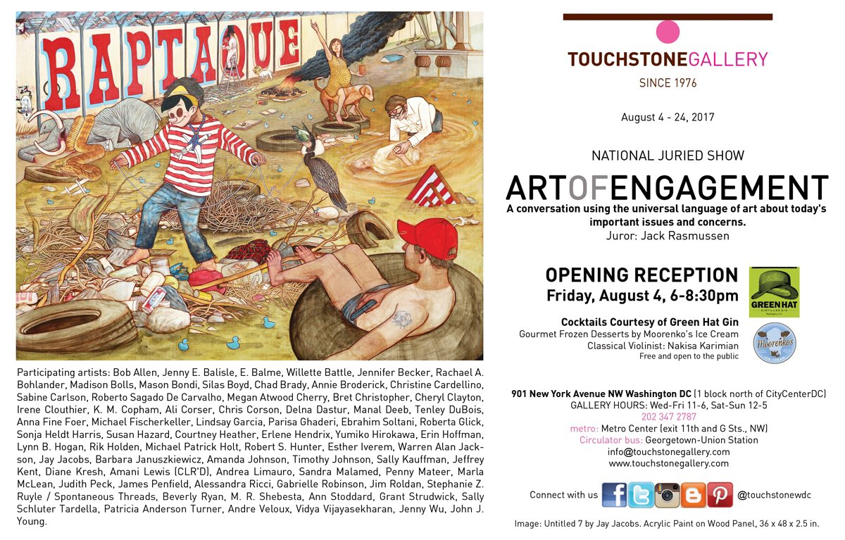 #politics &amp; #art as one at #ArtOfEngagement #show #opening Friday 6-8:30 with @dcdistillers &amp; @Moorenkos  #arts #dcevent #politicalart #dc<br>http://pic.twitter.com/8VzQzhXhfM