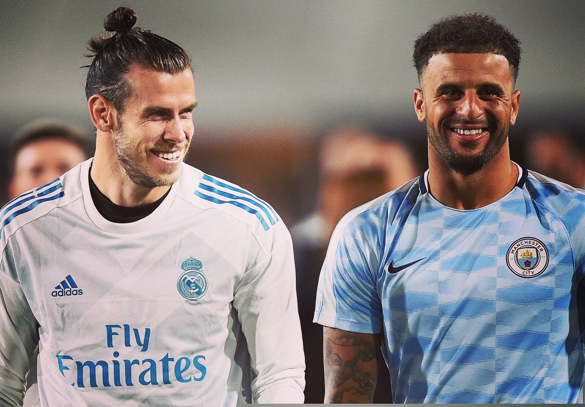 "Kyle Walker on Twitter ""Great to catch up with GarethBale11 in"