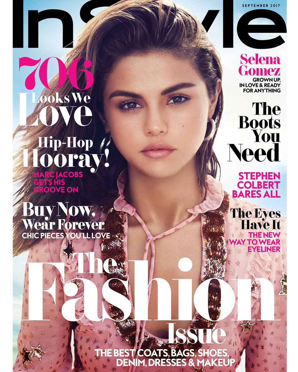 Just thrilled that @selenagomez is @InStyle's September cover. A wonder of a girl. Thank you, Selena. https://t.co/y7tNQ8rikD