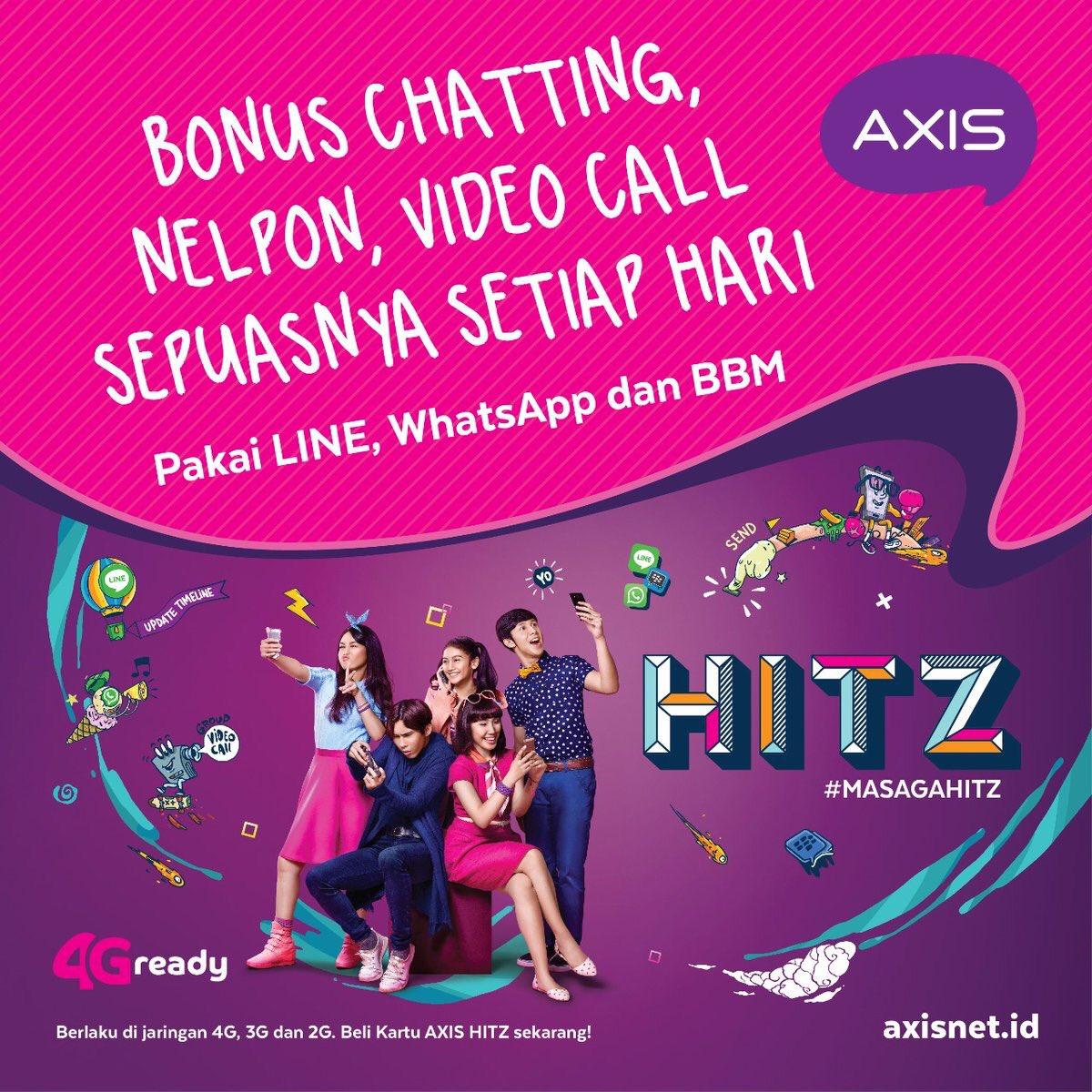 Youngontopcom On Twitter Chatting Nelpon Video Call Via Line Axis 4g Dan 3g Whatsapp Bbm Sepuasnya Kuota Tak Tersentuh Beli Kartu Hitz Ditoko Pulsa Terdekat