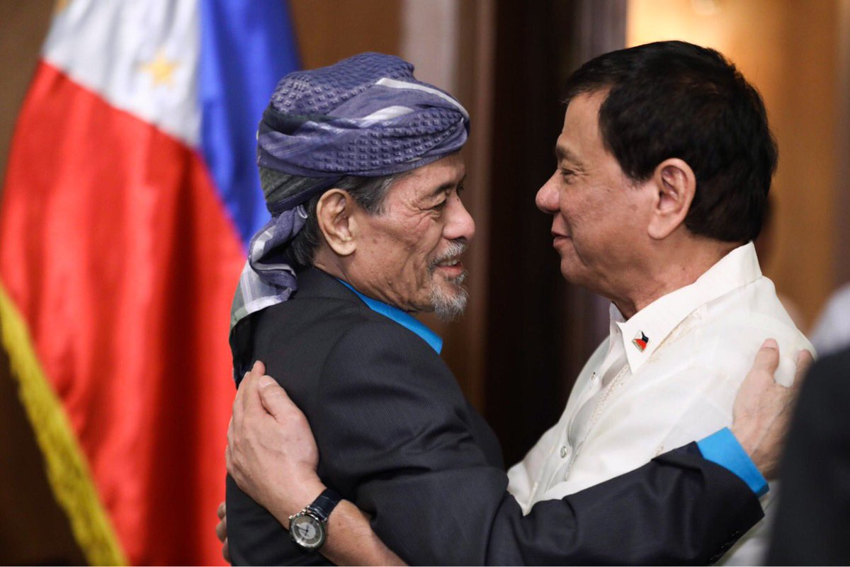 nur misuari founding leader and President rodrigo duterte says he is rejecting mnlf leader nur misuari's suggestion to include the terrorist group in the mindanao peace talks full story: h.