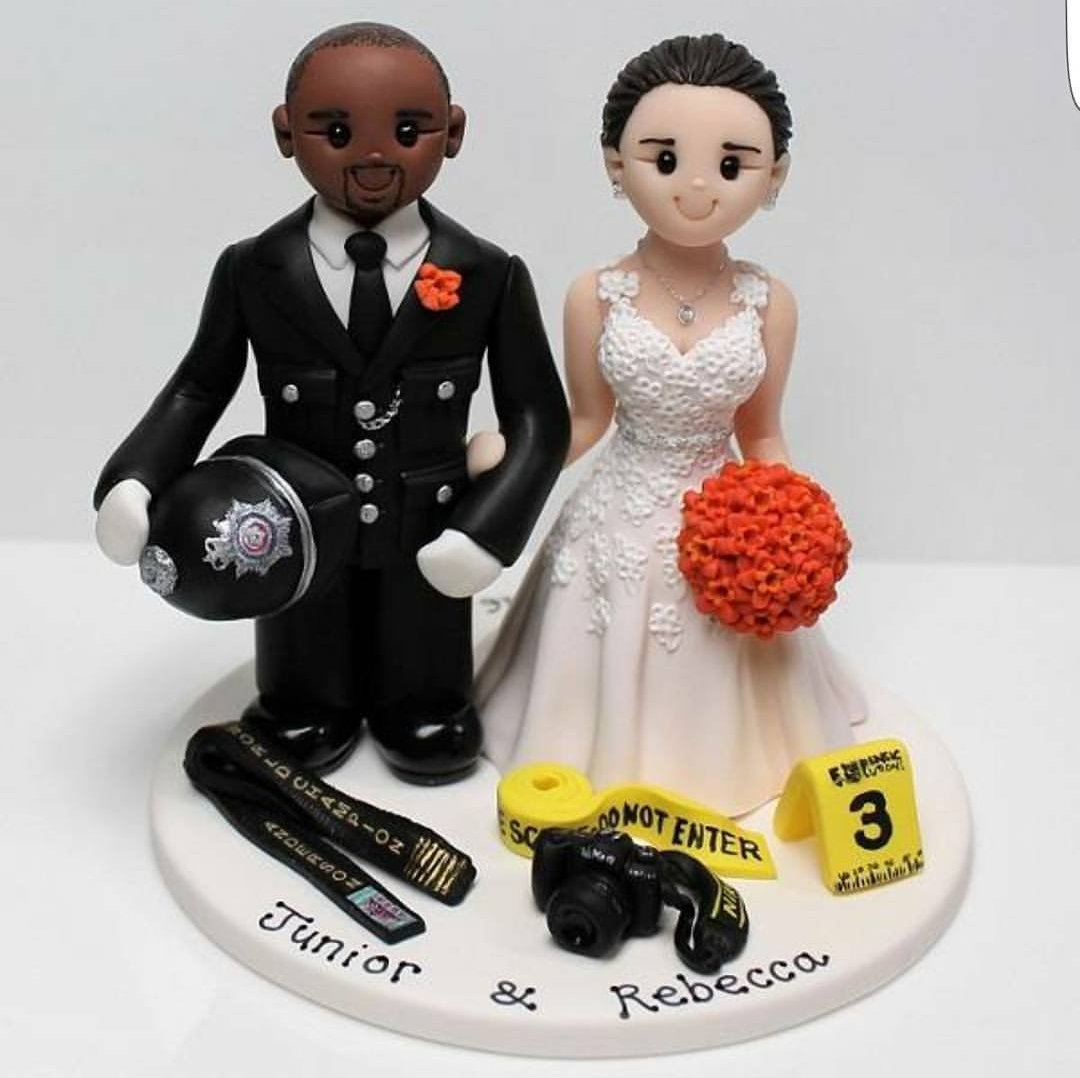 wedding cake topper police hashtag on Twitter