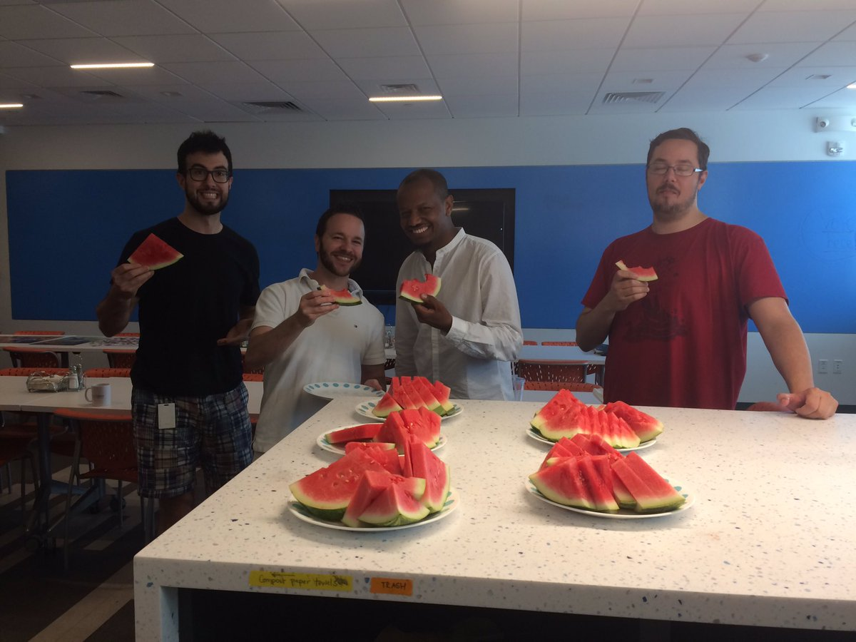 Celebrating #NationalWatermelonDay here @Addgene! And of course we&#39;re composting the scraps! #greencompany <br>http://pic.twitter.com/vepd5wNPg3