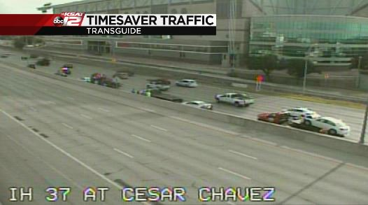 Cesar Chavez: Accident NB I-37 at Cesar Chavez in front of