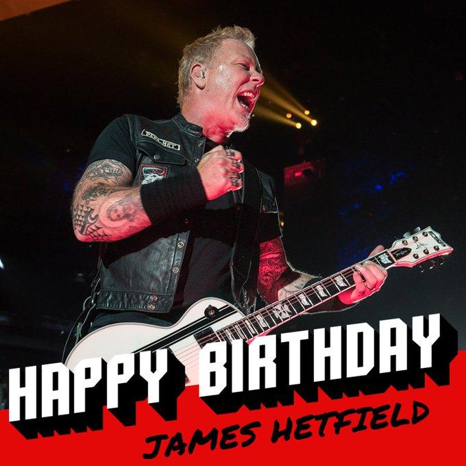 Happy 54th birthday to James Hetfield!