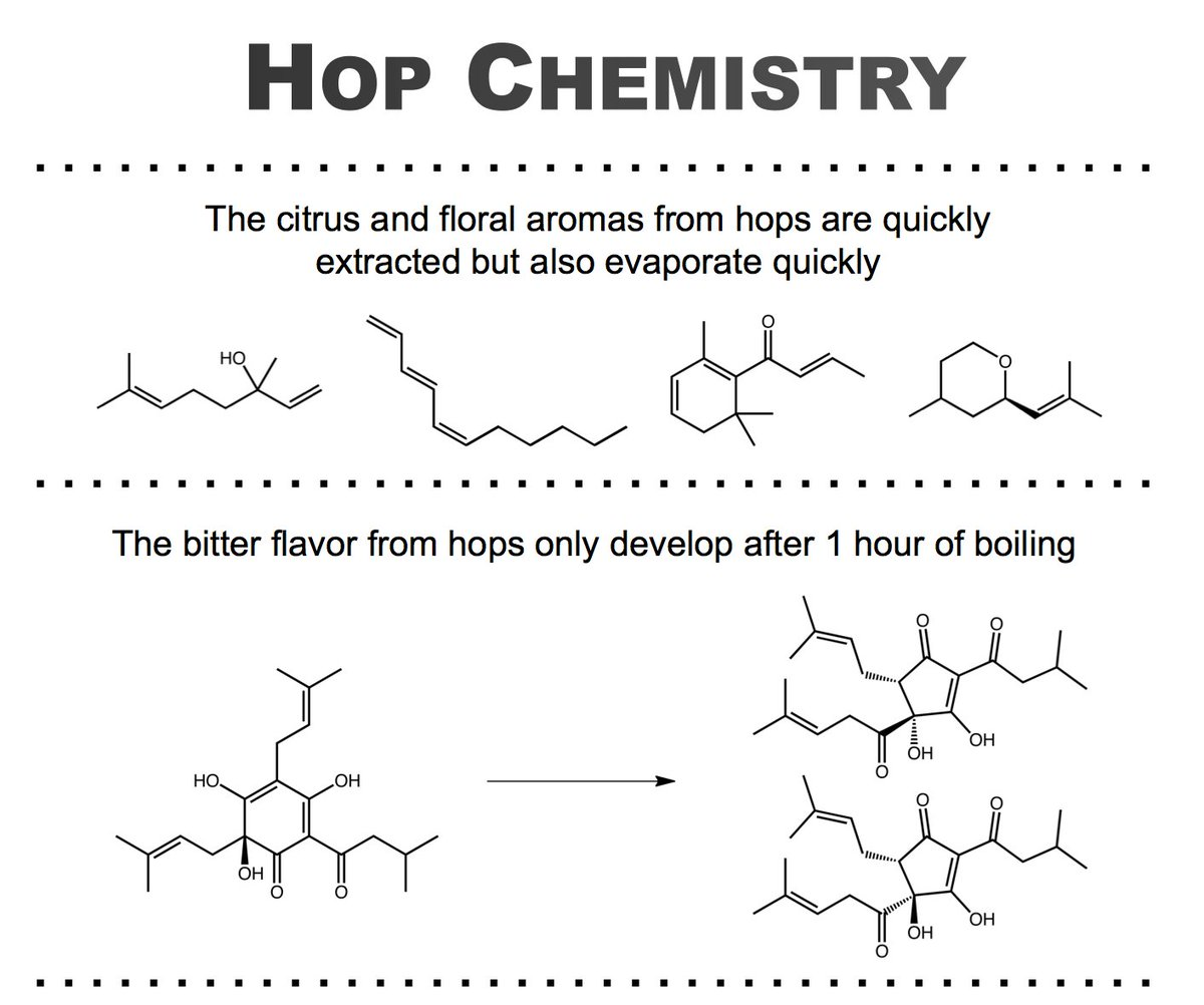 It's #IPADay! Learn about some of the #kitchenchemistry required for extracting hop flavors https://t.co/zsIOB1mF2q https://t.co/0Pbj4mt8lf