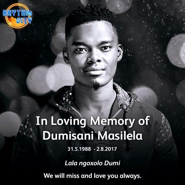 In Loving Memory.❤ #RhythmCity #RIPDumiMasilela https://t.co/v5eEIGrvpf
