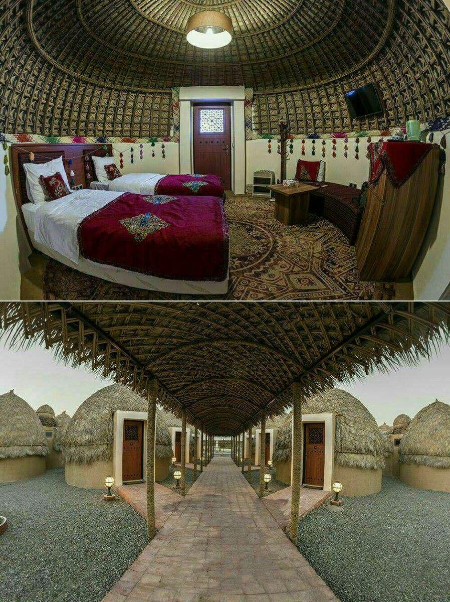 🔸💠تنها #هتل_کپری جهان  هتل ۴ستارهٔ #قلعهٔ_گنج کرمان ، نماد کپر را از فقر به ثروت تغییر داد. قلعهٔ گنج ، از محرومترین نقاط ایران است.💠
