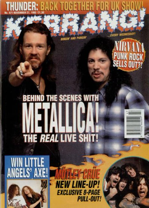 Happy Birthday, James Hetfield. How about this for a throwback?