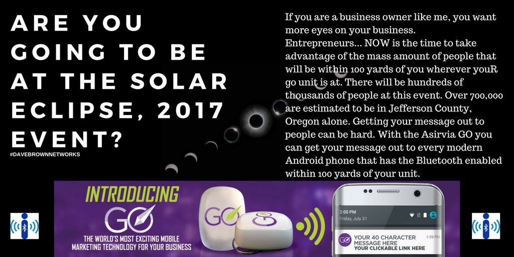 Do you want more #VISIBILITY on your #business? Over 700K people are expected at the #OregonSolarEclipse 2017 Learn&gt;  https:// tinyurl.com/mybeacon  &nbsp;  <br>http://pic.twitter.com/SX0Q0bqnpn