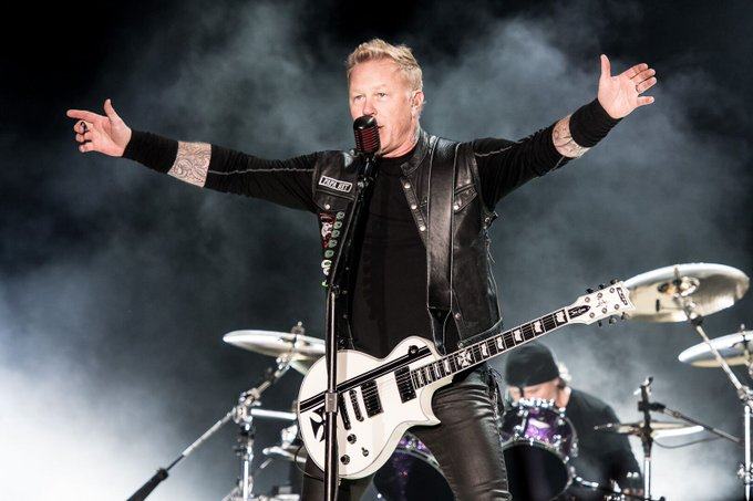 Horns up! and Happy Birthday to James Hetfield of from Fueled By Death Cast