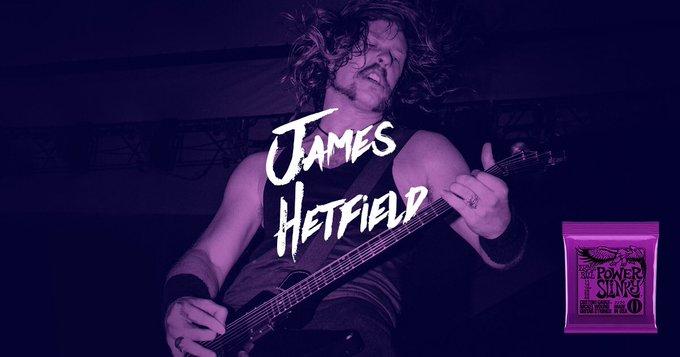Happy Birthday to long-time Ernie Ball artist, James Hetfield of