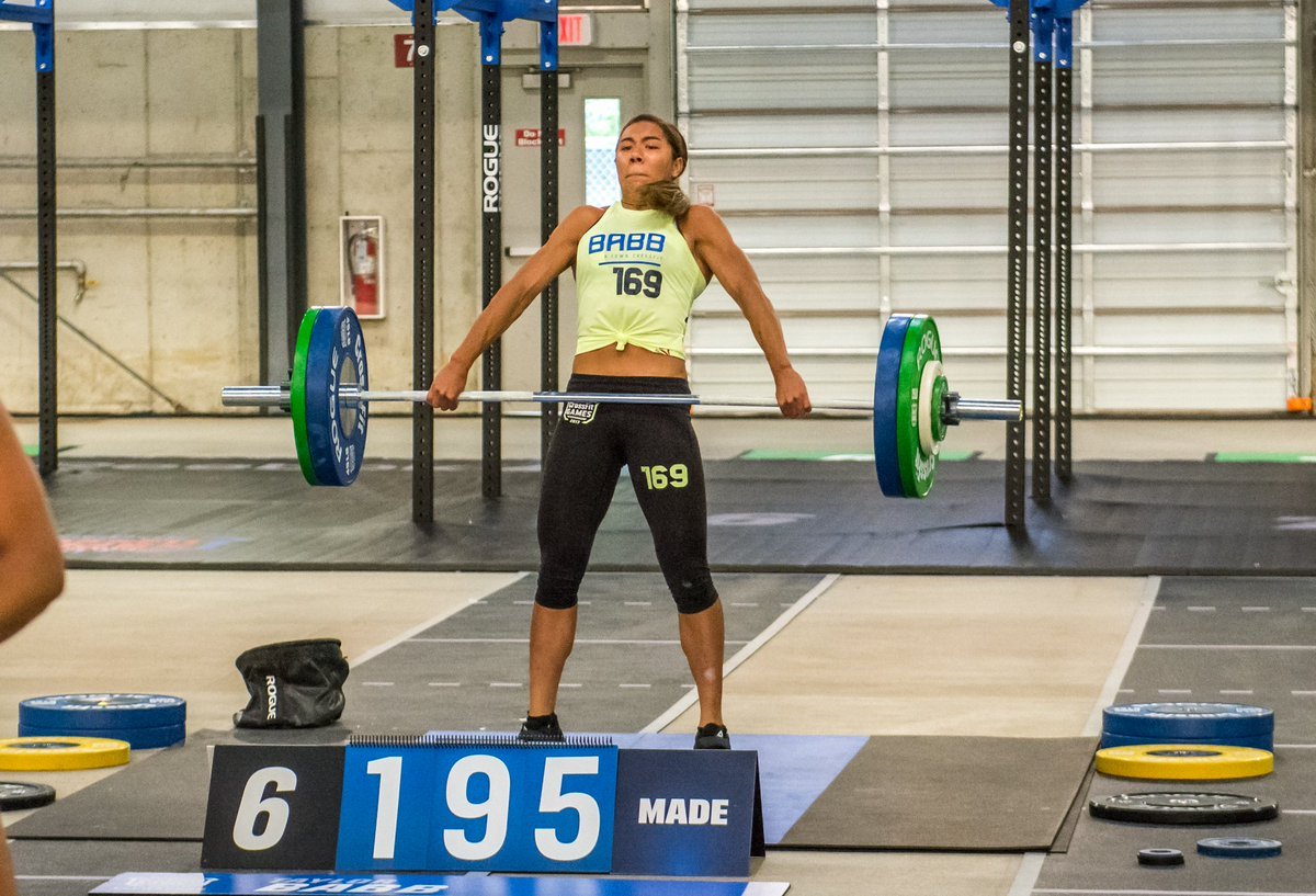the crossfit games on twitter it s an easy 195lb for 16 year old