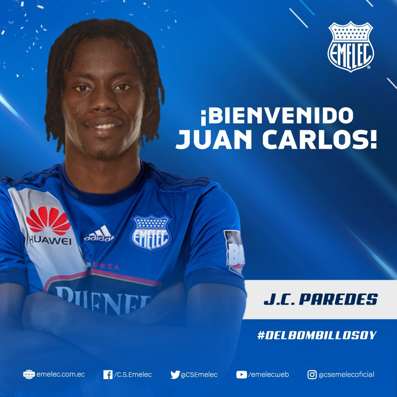 Juan Carlos Paredes firmó por tres temporadas con Emelec