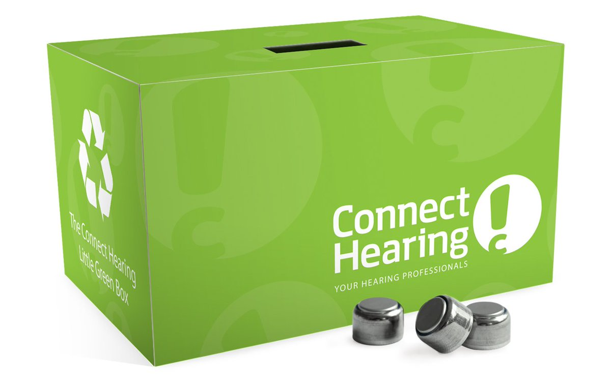 The @connect_hearing #LittleGreenBox helped #Canadians recycle 1.5 million hearing aid batteries! Learn more: