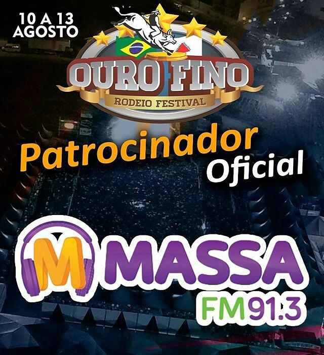 A Massa FM 91,3 é patrocinadora oficial do #ourofinorodeiofestival. Já está rolando sorteio de ingressos na Massa. Fique ligado. #massafm