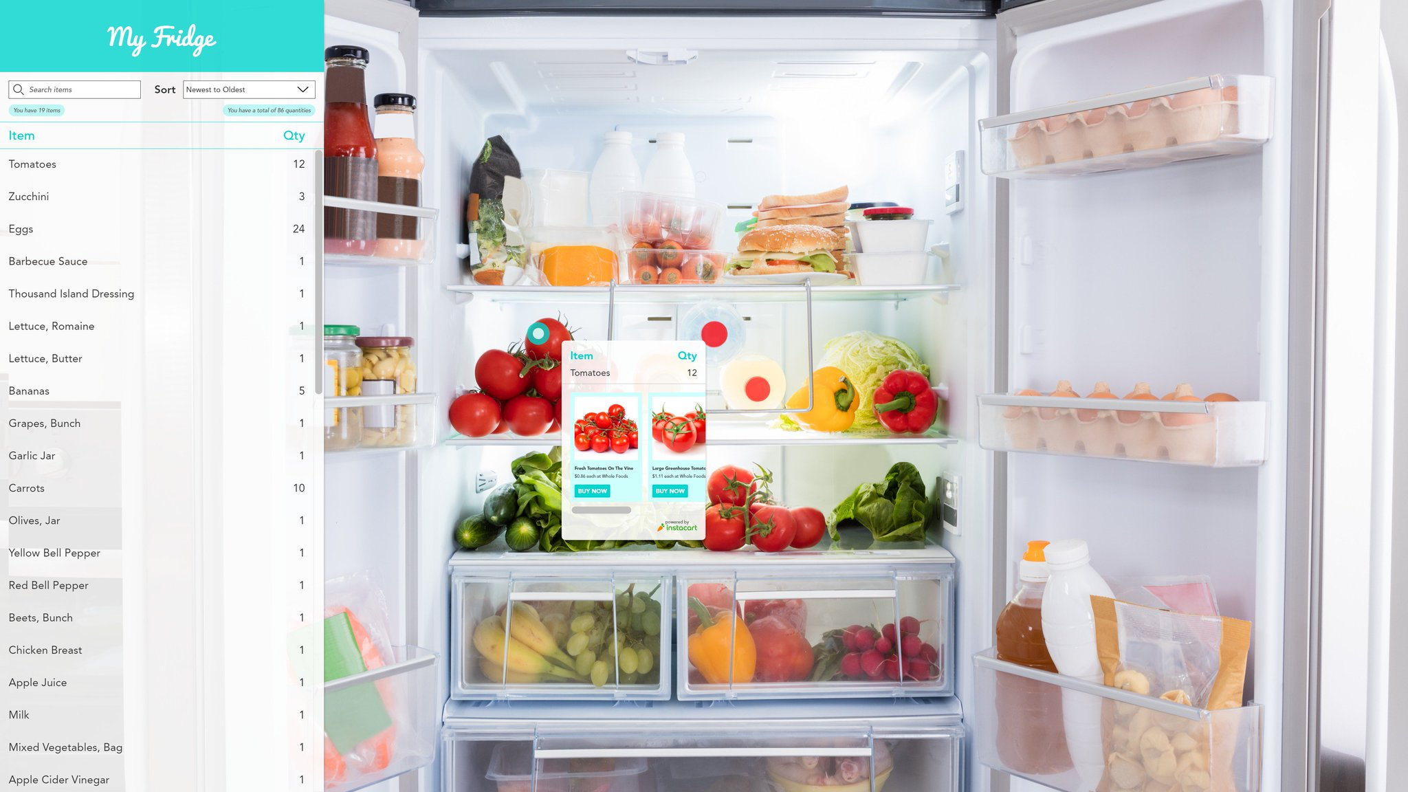 What would #Augment #Reality? What's in my fridge + @Instacart cuz I love it. @lukew -> Invision: https://t.co/H6D79ik8kx #augmentedreality https://t.co/0kW0OEQryg
