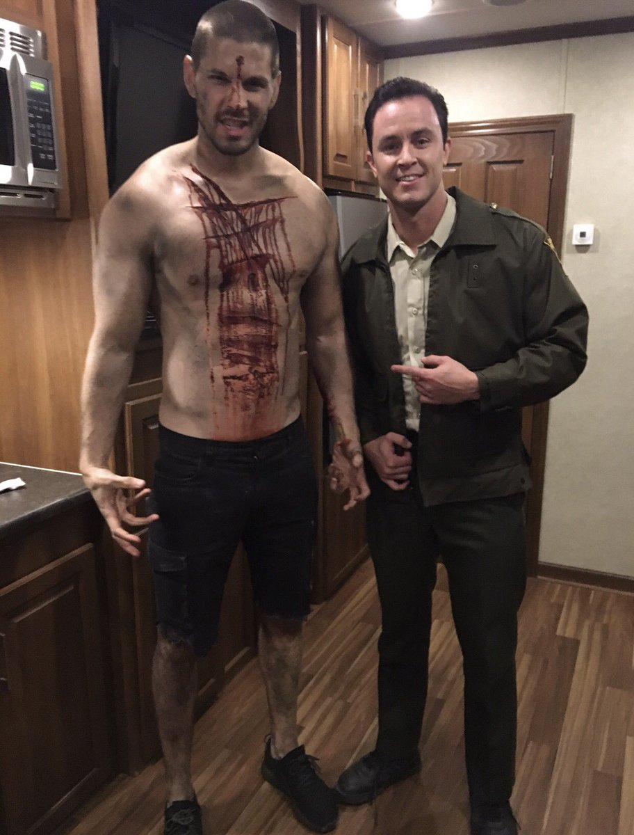 #ThrowbackThursdays on the set of @MTVteenwolf @the_ryan_kelley and I about to hit the club
