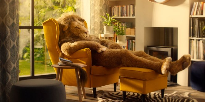 A sleepy lion conserves his energy for the right moment in this tranquil @IKEA_UK #ad - https://t.co/PhcuTgQZdR https://t.co/67MSQ6CCXk