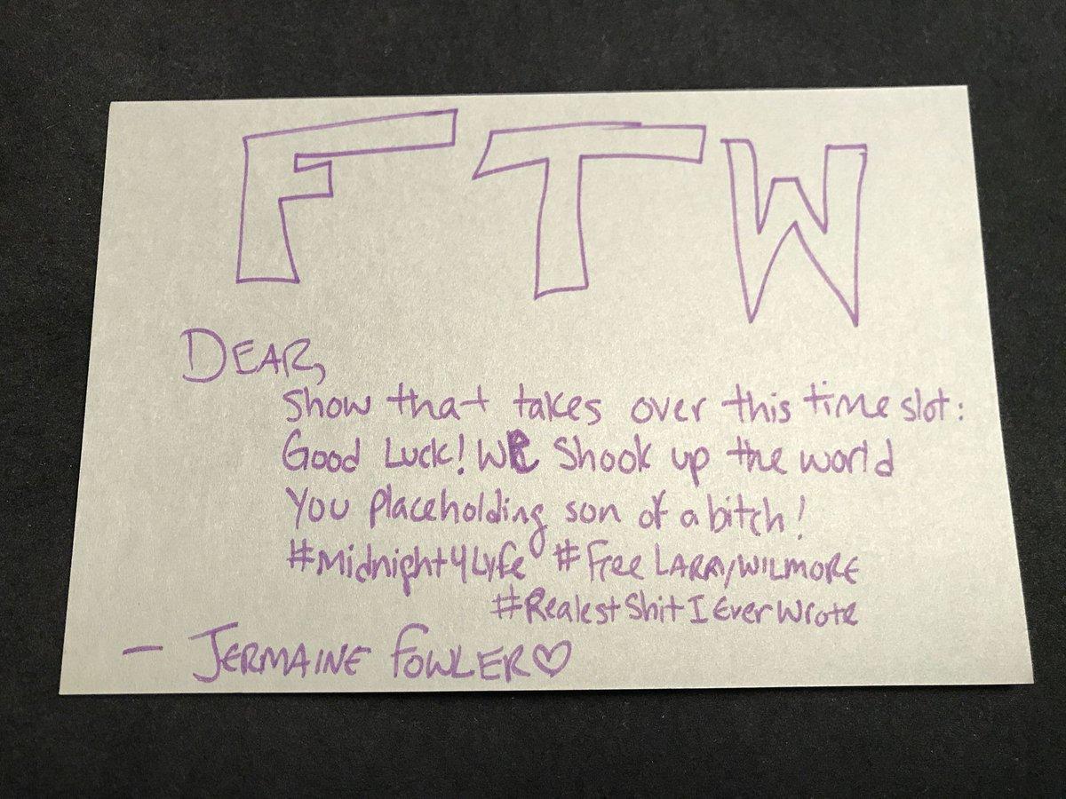 Final FTW entry - Jermaine Fowler (@jermaineFOWLER) https://t.co/6rL50...
