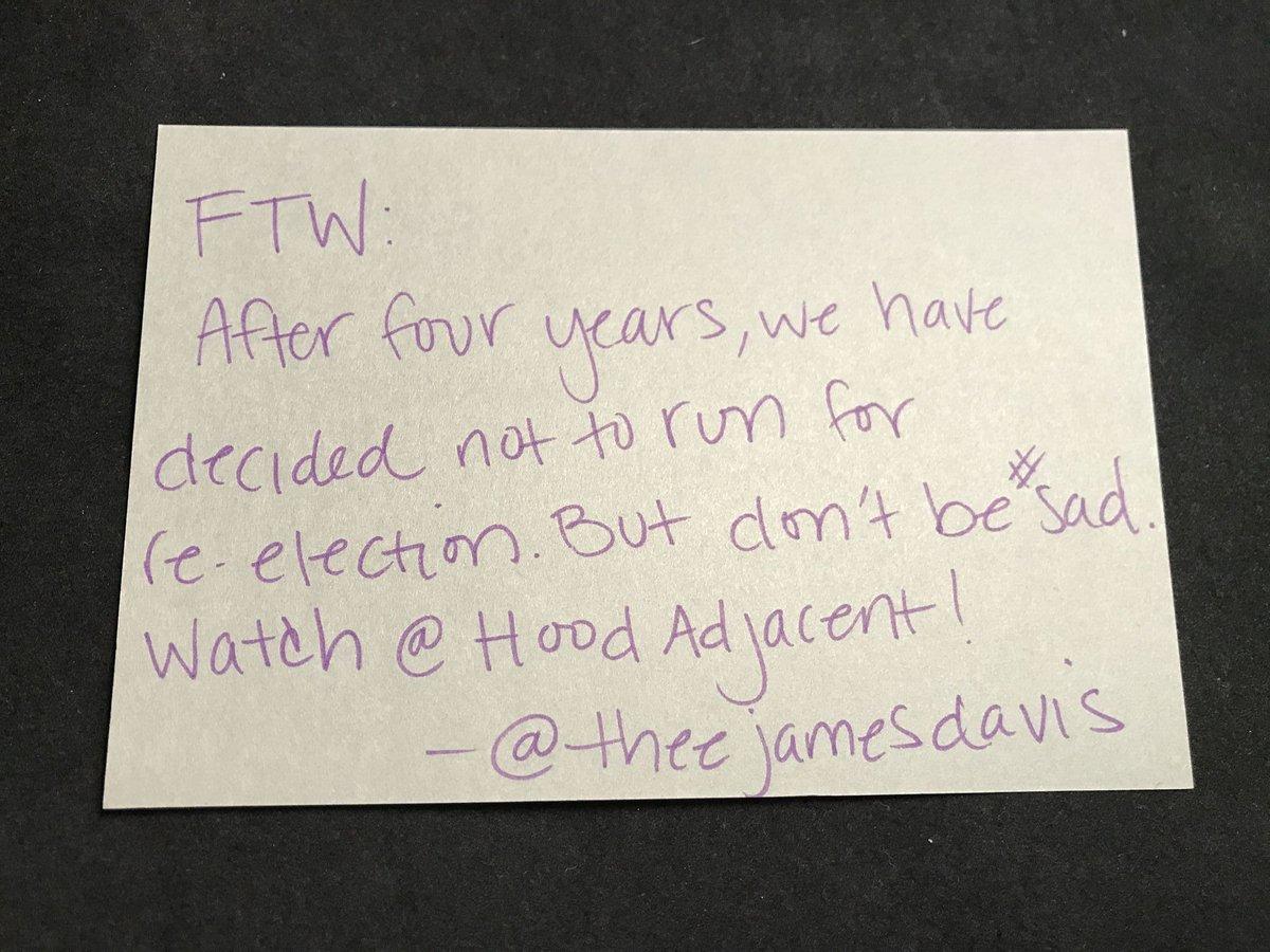 Final FTW entry - James Davis (@theejamesdavis) https://t.co/ODapK8oXj...