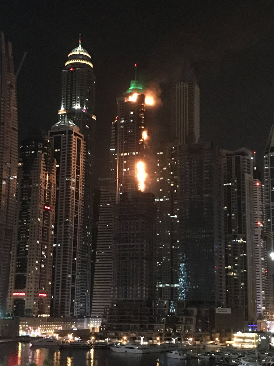 Penthouse / roof level now pretty engulfed. Apparently 5th tallest residential building in the world https://t.co/nsEJV1J7rZ