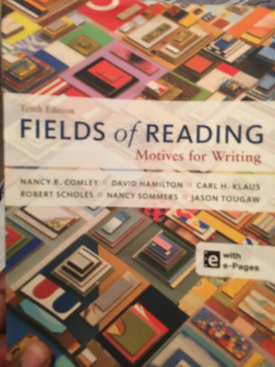fields of reading motives for writing Fields of reading: motives for writing by nancy r comley,carl h klaus,david hamilton,robert scholes,nancy sommers,jason tougaw our price 5,648, save rs 0 buy fields of reading: motives for writing online, free home delivery.
