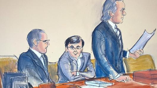 Thumbnail for Martin Shkreli courtroom sketches turn into Twitter meme