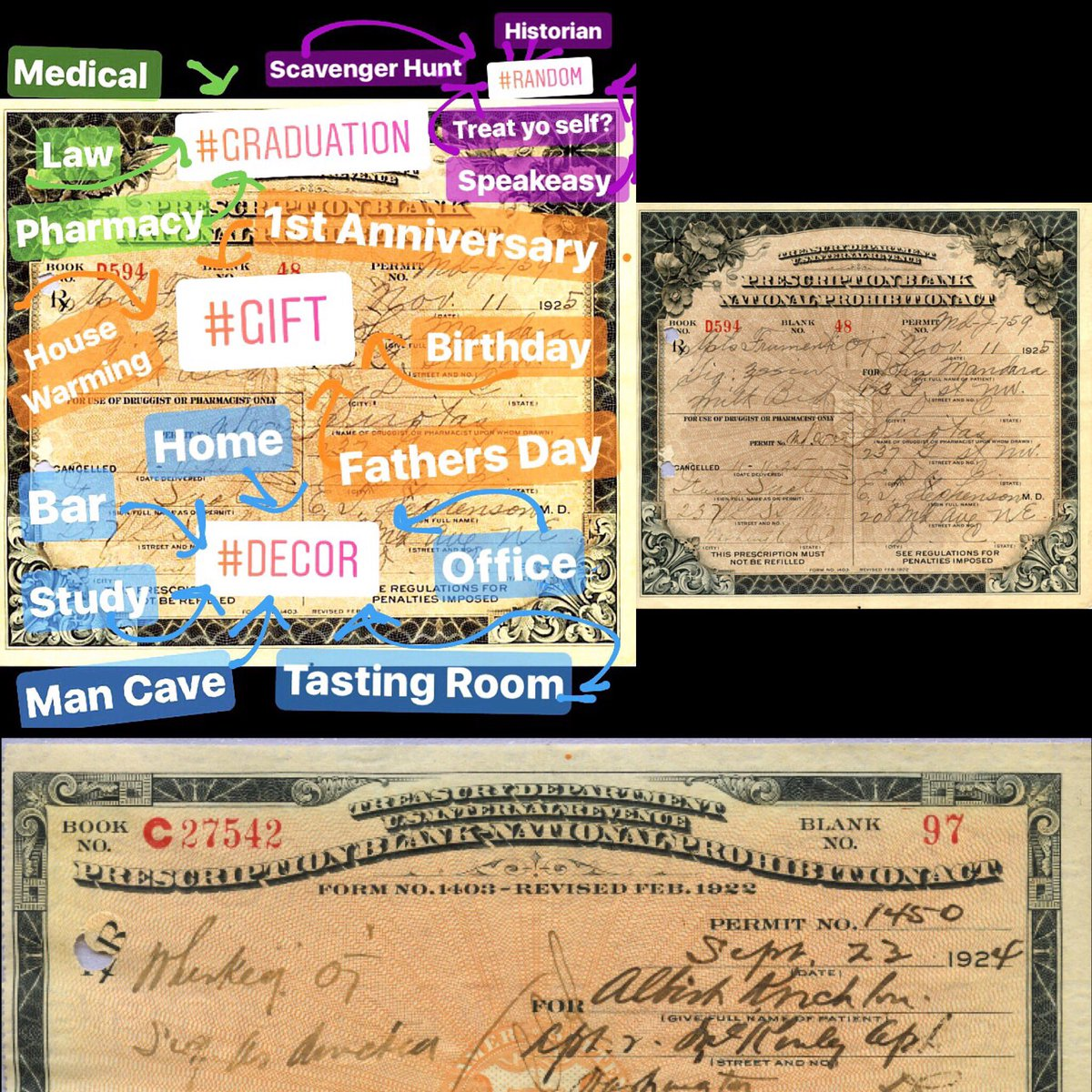 #ProhibitionWhiskey prescriptions are 👍🏻🖼🎁 #graduation #homedecor #bar #mancave #whiskey #bourbon #graduation #usa http://Etsy.com/shop/prohibitionact…