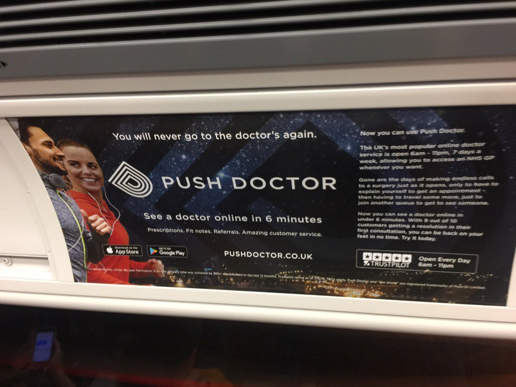 Push doctor tube poster