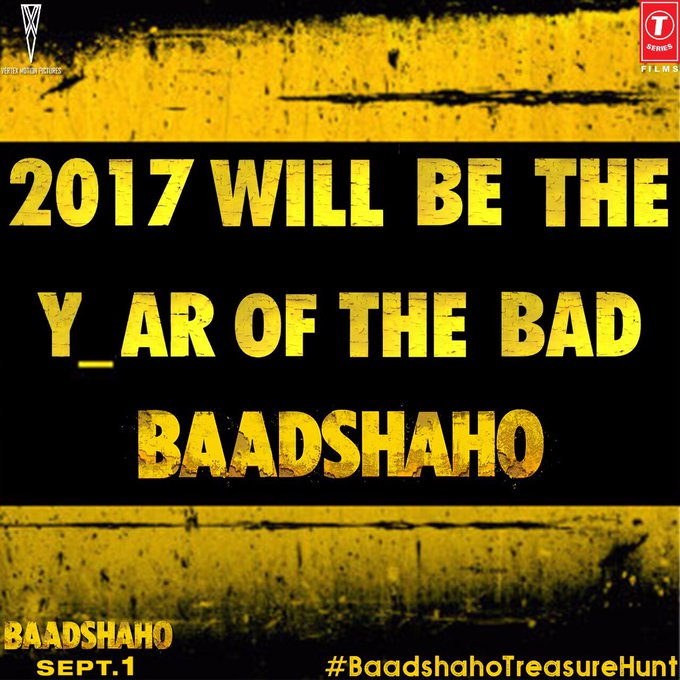 6th Hint! Tweet to @Baadshaho the hidden alphabet using #BaadshahoTreasureHunt! Time to unlock date & venue for trailer launch! https://t.co/gfMTGpmoJQ