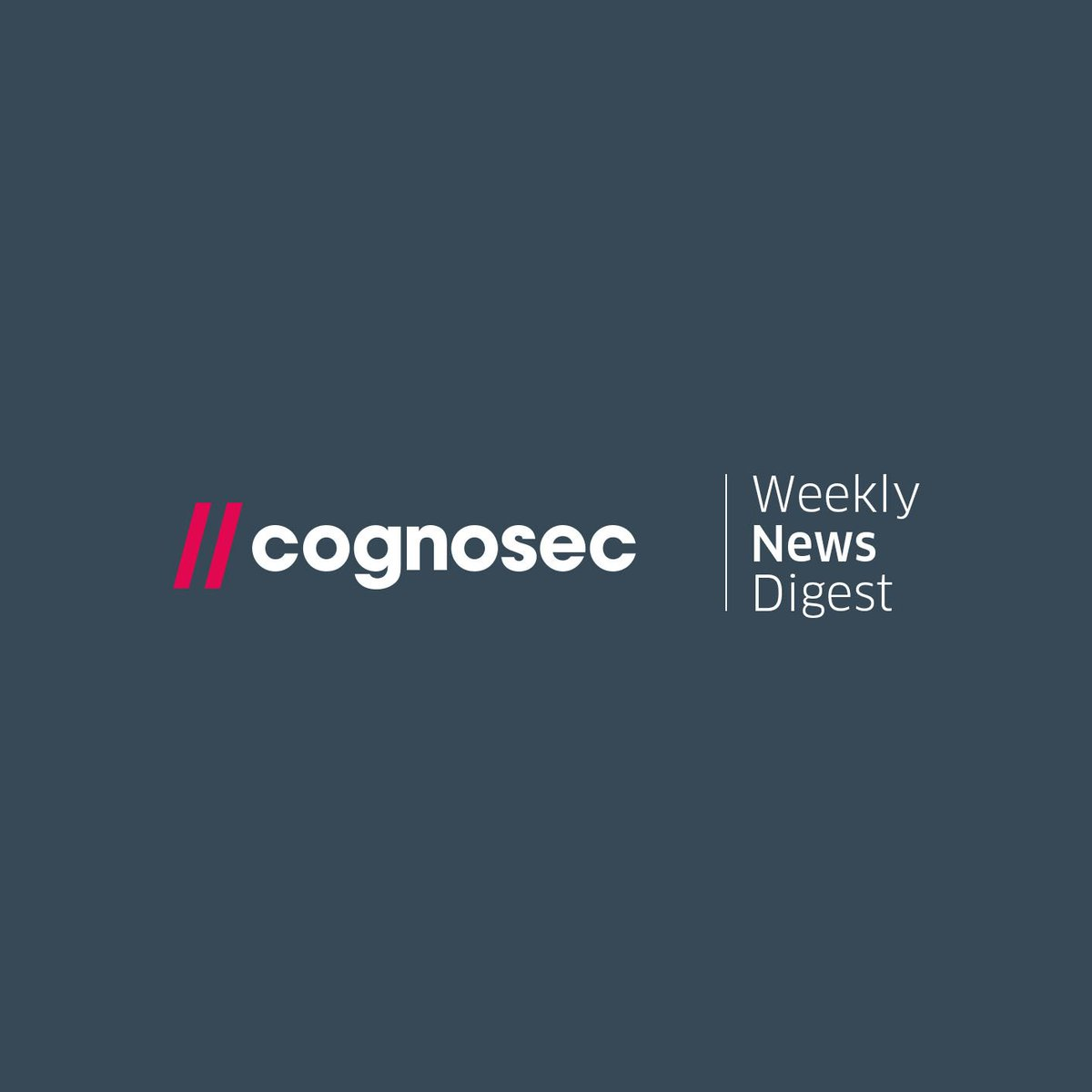 Cognosec Weekly News Digest http://hubs.ly/H08hdWJ0
