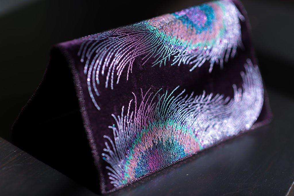 бисер в вышивке лентами