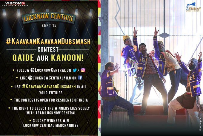 Who can do this better? The band from #LucknowCentral or you?! Bring it on! #KaavaanKaavaanDubsmash contest. https://t.co/u05dg1bxa3