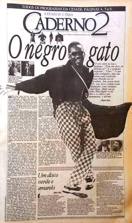 Luiz Melodia (1951 - 2017) O negro gato, na capa do Caderno 2 em maio 1987 https://t.co/7HwU5ZqbGE https://t.co/kdBlMg8WhW