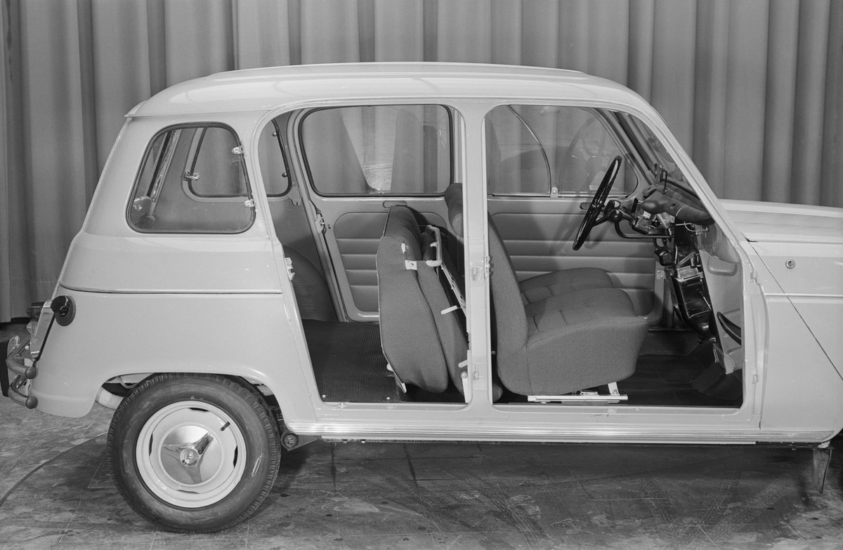 """Groupe Renault on Twitter: """"1962 - Renault launched the R4 Super, also known as the R4 Super Confort. Remember this model? 🇫🇷🚗 #4LFriday… """""""
