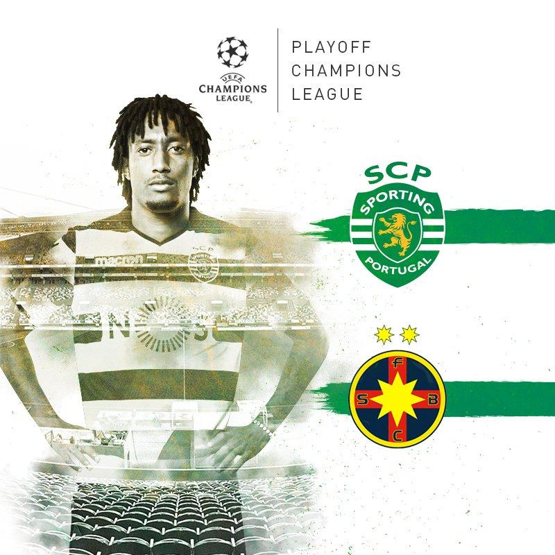 Já está encontrado o nosso adversário! O Sporting CP vai defrontar o #SteauaBucareste no play-off de acesso à @ChampionsLeague!