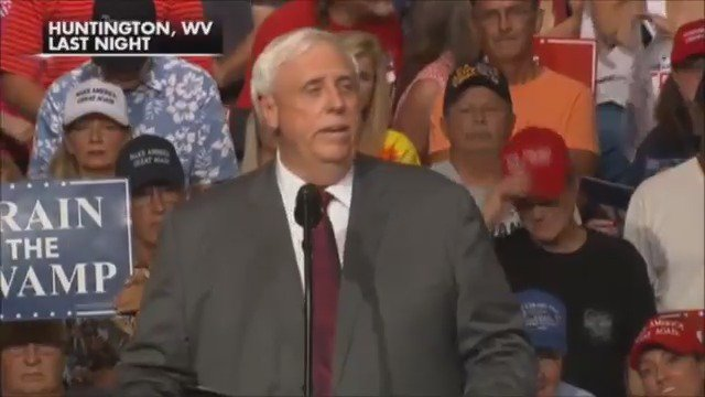 """WV Gov. Jim Justice: """"I can't help you anymore being a Democratic governor."""" https://t.co/B5ny36ZTzj"""