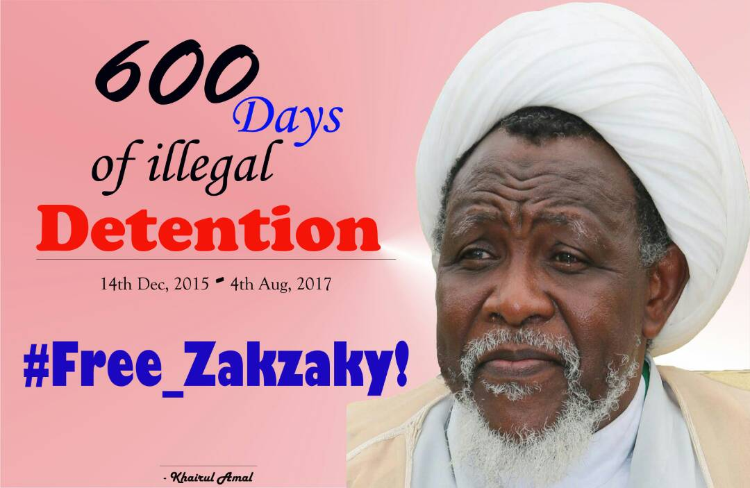 Shiites, aka Islamic Movement of Nigeria [IMN], has reiterated call for release of their leader, Zakzaky who has been incarcerated for 600 days.