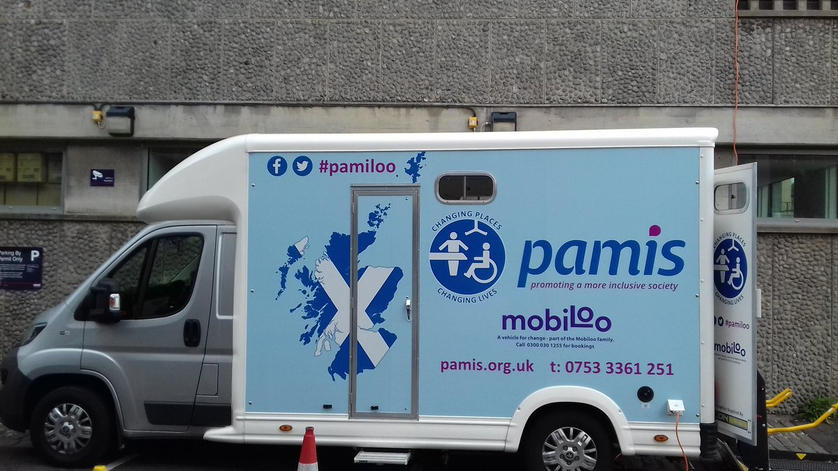 The #pamiloo is all set up @edfringe. We are on Windmill Street off George Square #mobiloo #changingplacestoilet #pamis <br>http://pic.twitter.com/kAYHldQW8e