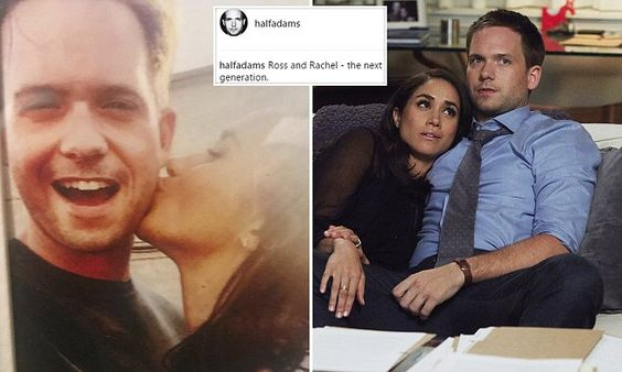 """Daily Mail Femail on Twitter: """"Suits star Patrick Adams shares intimate photo of Meghan Markle KISSING him https://t.co/dFS7dGqgkj… """""""