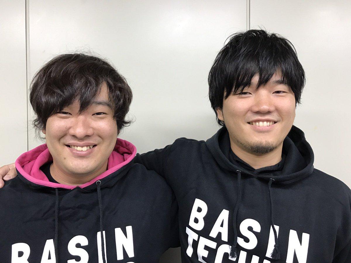 秦基博さんと岡崎体育さんの初対面2S写真 #Mステ #顔交換