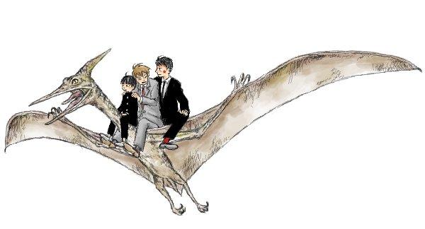 今夜はじゅらしっく・わーるどなので、わたしが描いた恐竜絵を見てくれ(3枚目と4枚目はただのオリジナル絵。モブサイじゃなくてめんご)