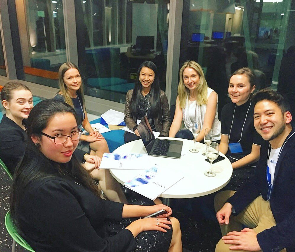 The #DisruptingLaw team we'll be mentoring on this #auslaw #hackathon- lively discussion on #legaltech issues- looking fwd to more ideas https://t.co/v0C6ZTLyqd