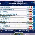 Top 10 junior men #EuroRoad17