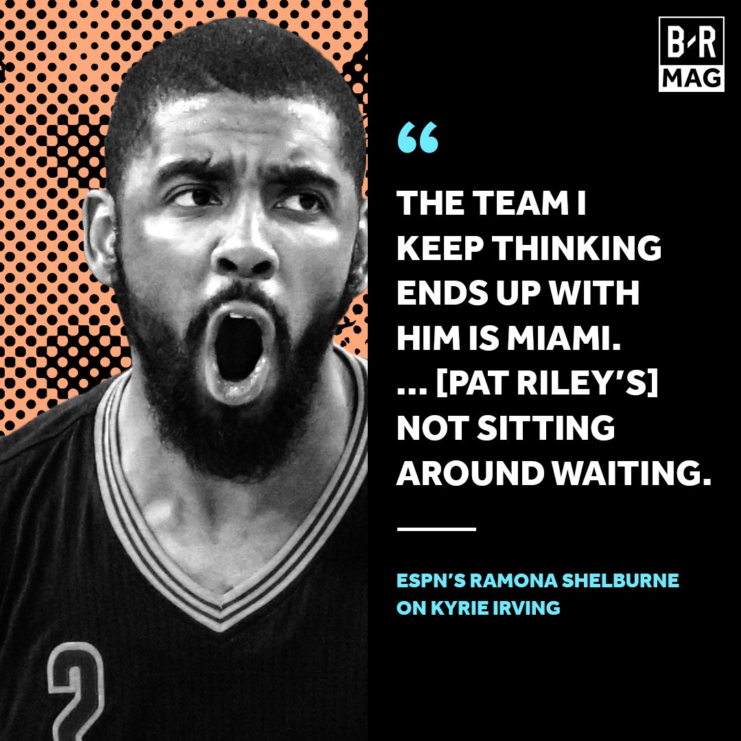 Kyrie to Miami? @ramonashelburne joins @dave_schilling @natalieweiner on the #BRmag Show podcast.  Listen ➡️ https://t.co/wegwQVWWwU https://t.co/ON509JPyuk